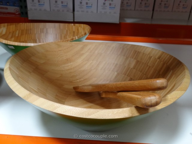 Island Bamboo Bowl with Serving Utensils Costco 4