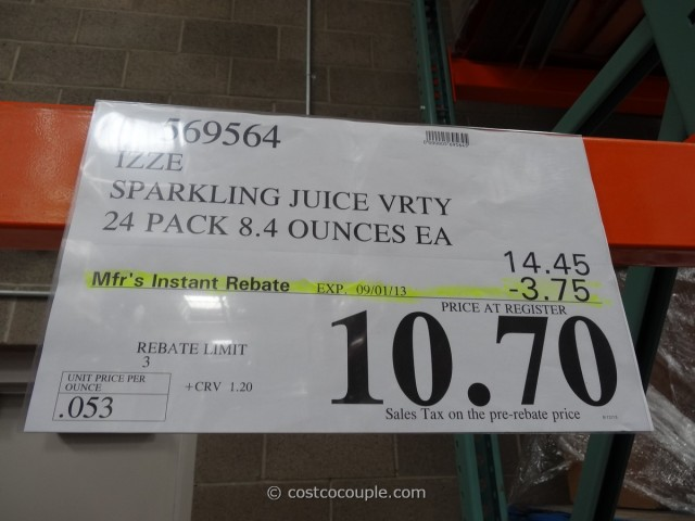 Izze Sparkling Juice Costco 3