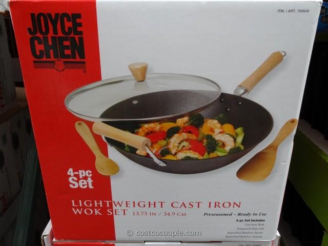 Joyce Chen Lightweight Cast Iron Wok Costco 3