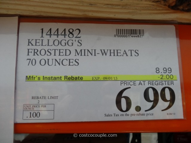 Kellogg's Frosted Mini-Wheats Costco 1
