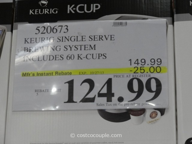 Keurig K75 Platinum Costco