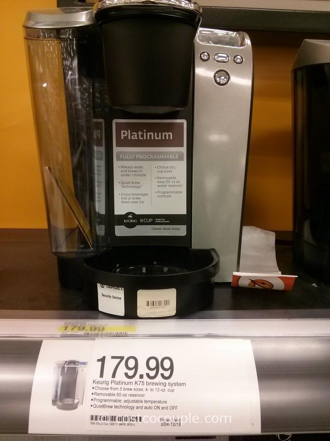 Keurig K75 Platinum Is Costco Cheaper