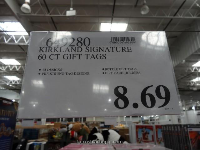 Kirkland Signature Holiday Gift Tags Set Costco 1