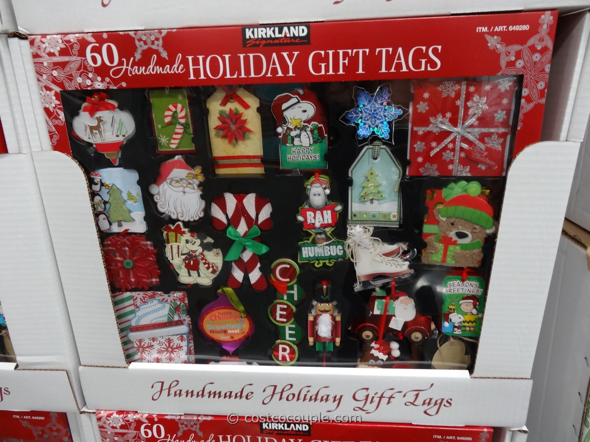 Kirkland Siganture Holiday Gift Tags Set Costco 2