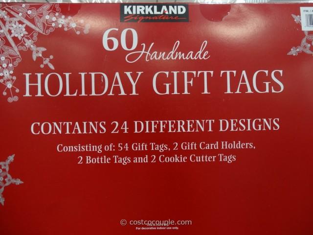 Kirkland Signature Holiday Gift Tags Set Costco 3