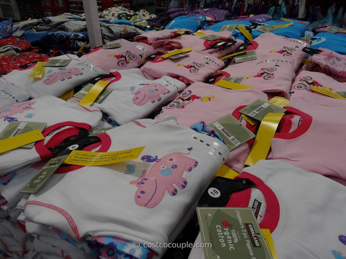 Kirkland Signature 2Piece Organic Cotton Pajama Set Costco 1