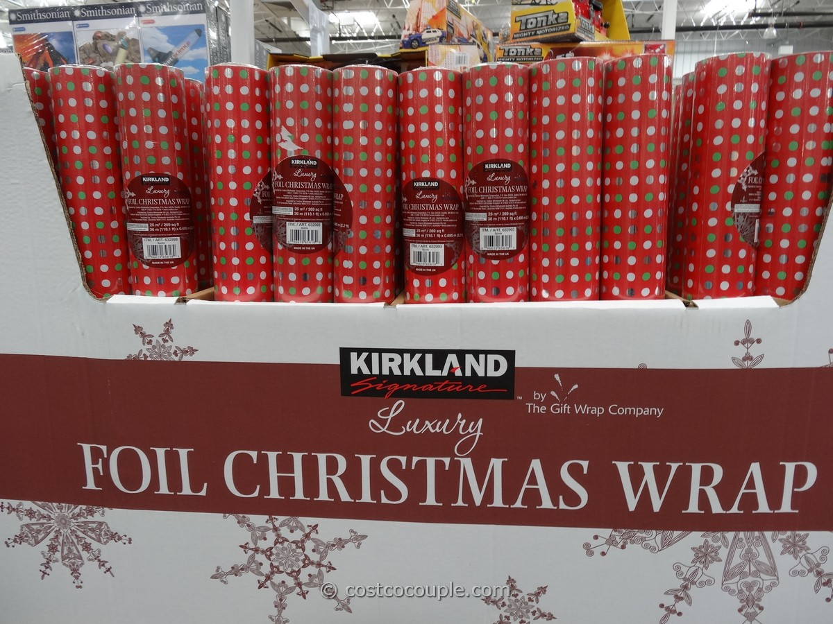 Kirkland Signature Foil Christmas Wrap Costco 1