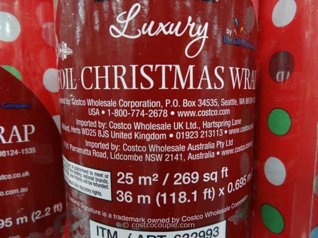 Kirkland Signature Foil Christmas Wrap Costco 2
