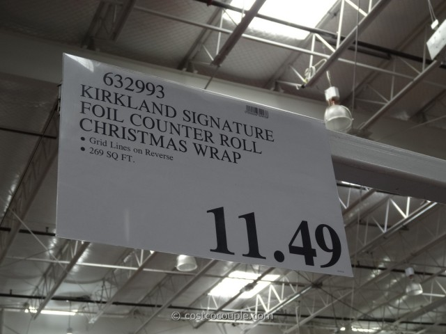 Kirkland Signature Foil Christmas Wrap Costco 3