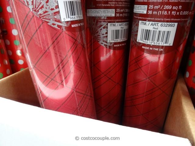 Kirkland Signature Foil Christmas Wrap Costco 5