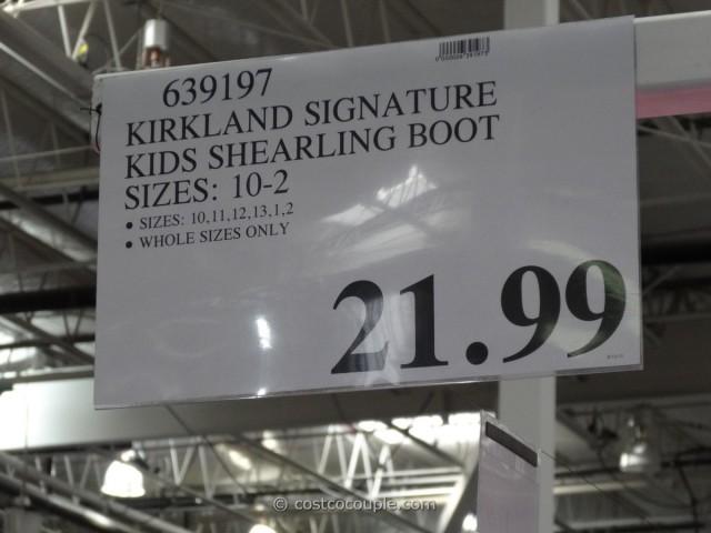 Kirkland Signature Kids Shearling Boot Costco 5