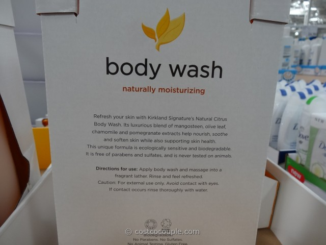 Kirkland Signature Natural Citrus Body Wash Costco 2