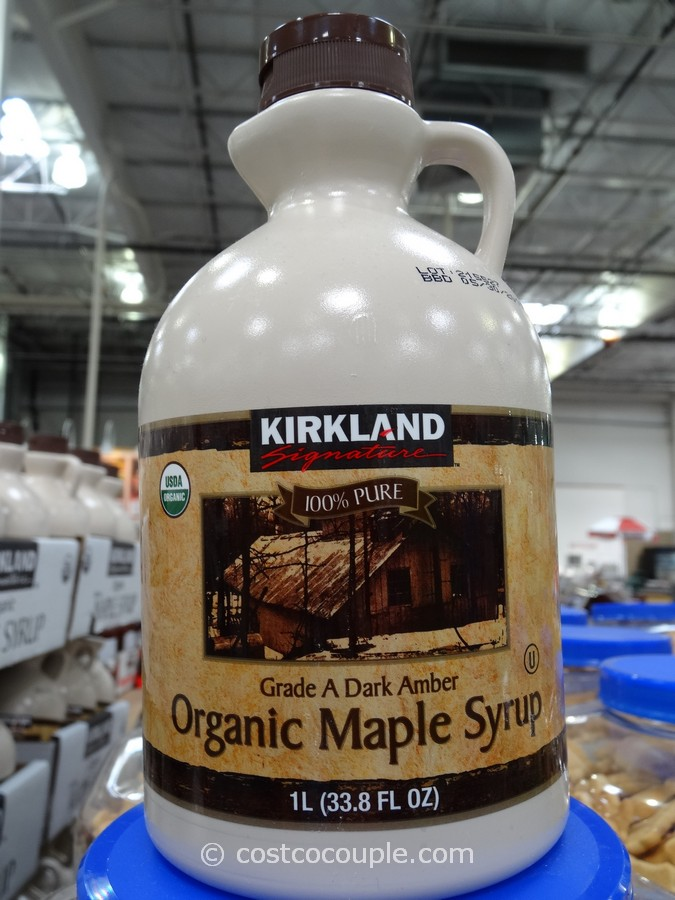 Kirkland Signature Organic Dark Amber Maple Syrup Costco 2