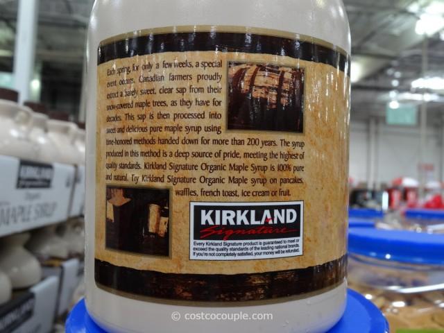 Kirkland Signature Organic Dark Amber Maple Syrup Costco 4