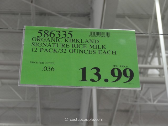 Kirkland Signature Organic Rice Milk Costco 1