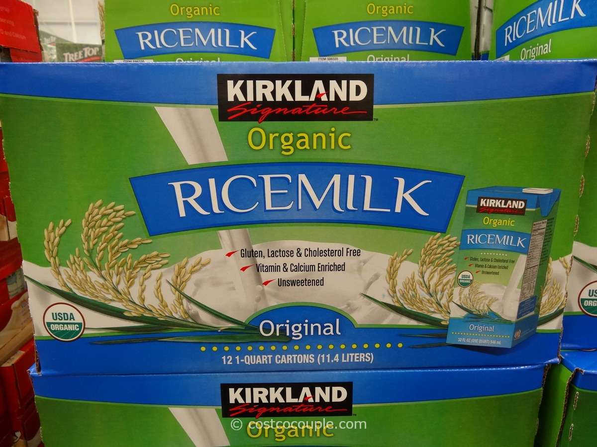 Kirkland Signature Organic Rice Milk Costco 2
