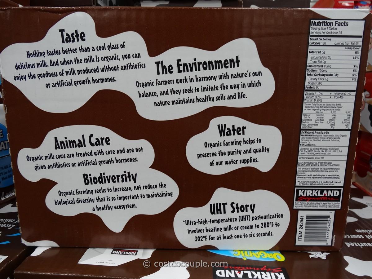 Kirkland Signature Reduced Fat Organic Chocolate Milk