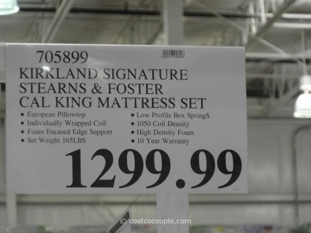 Kirkland Signature Sterns and Foster San Remo Cal King Mattress Costco 1
