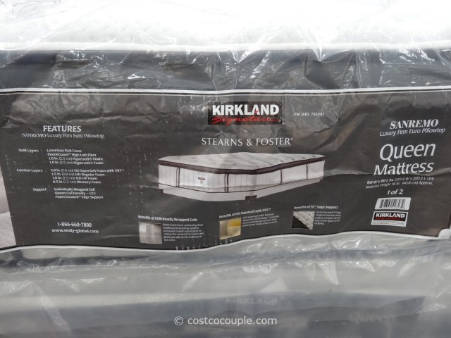 Kirkland Signature Sterns and Foster San Remo Queen Mattress Costco 2