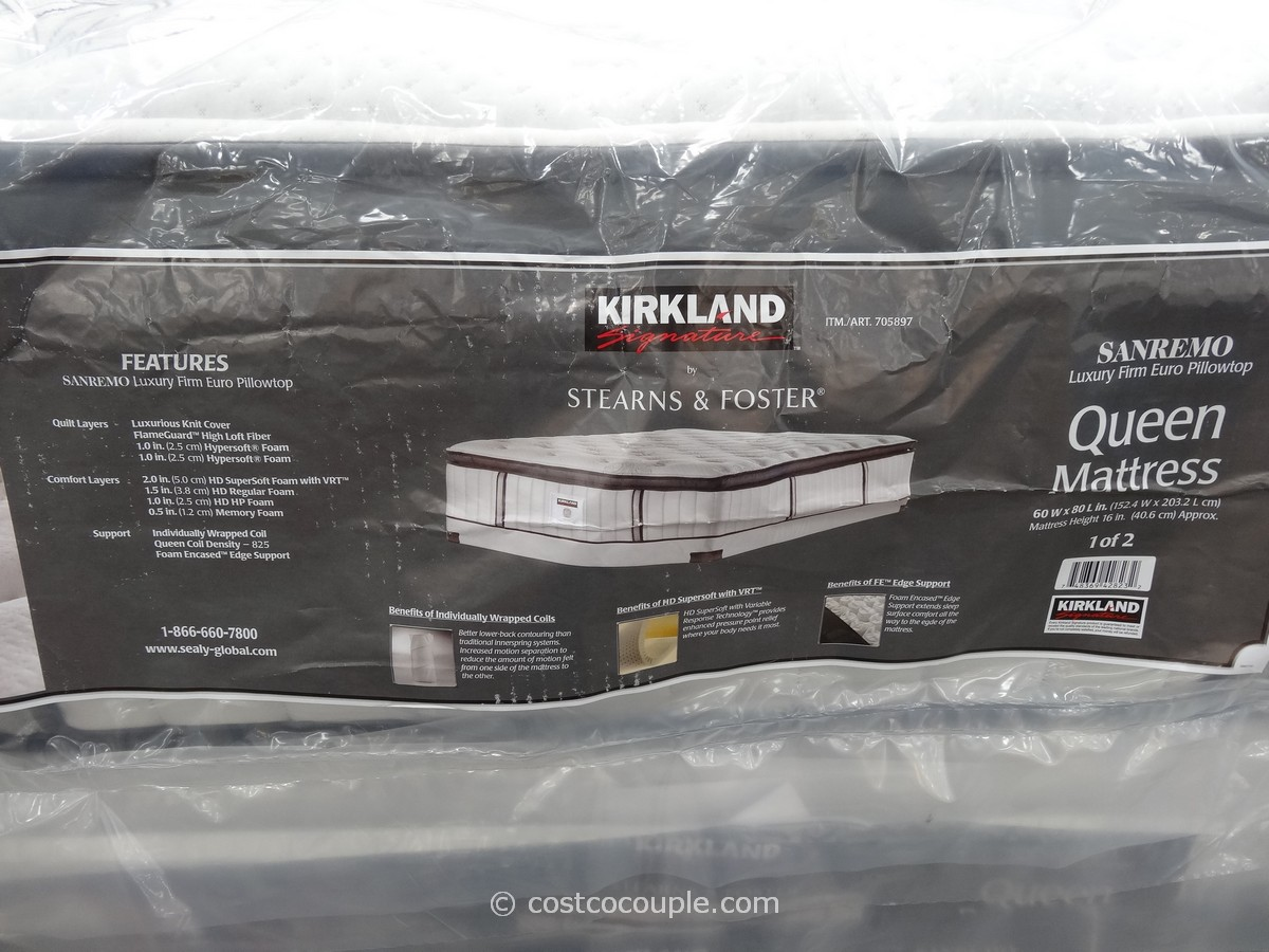 kirkland signature sterns and foster san remo queen mattress costco 2