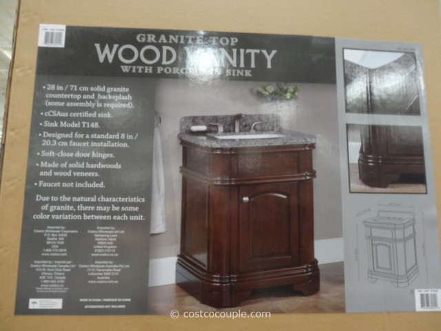 Lanza 28 Inch Single Sink Vanity With Granite Top