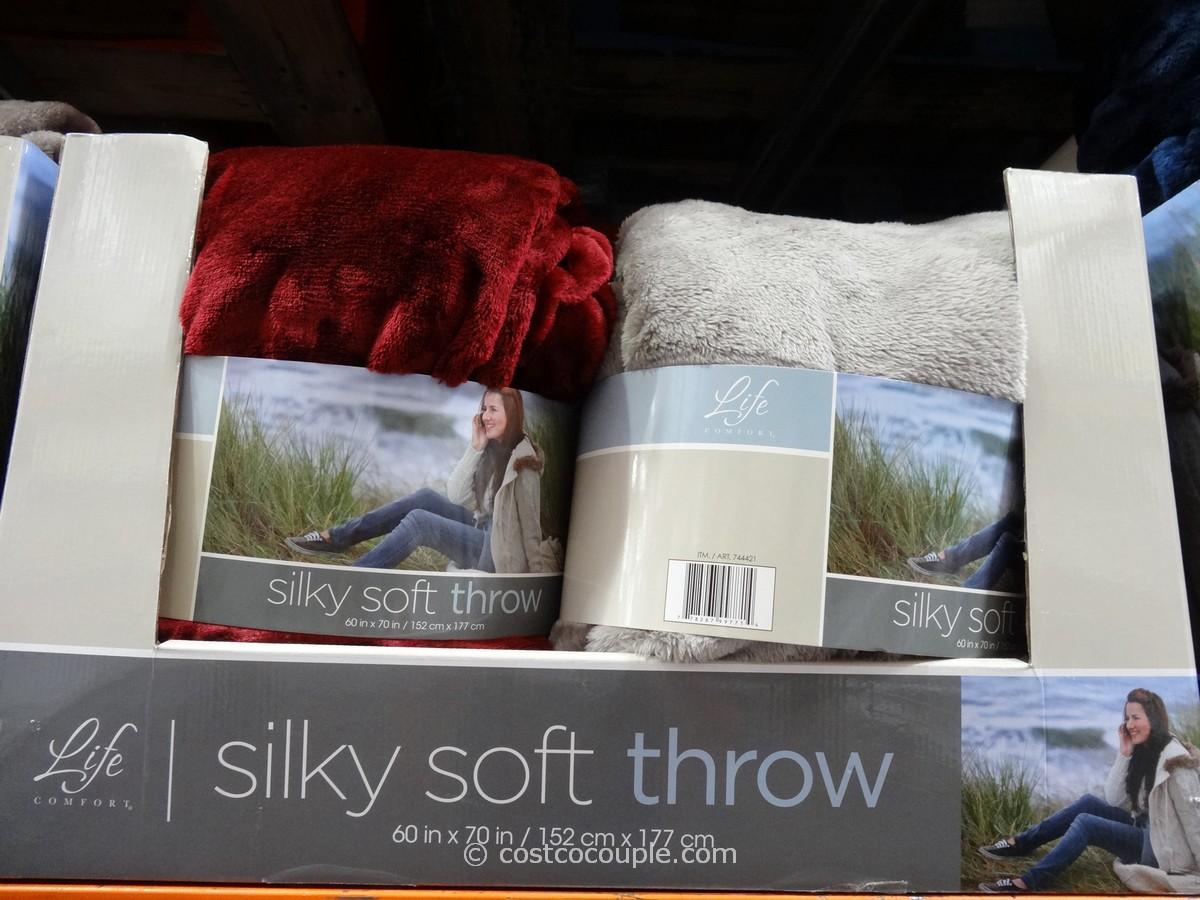 Life Comfort Silky Soft Plush Throw