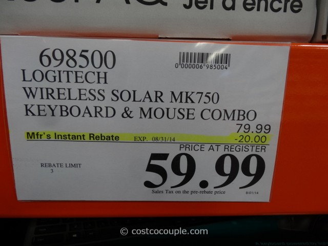 Logitech Wireless Solar Keyboard Costco