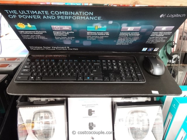 Logitech Wireless Solar Keyboard and Mouse mk750 Costco 1