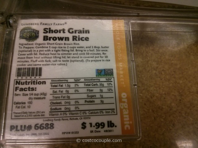 Lundberg Farms Organic Short Grain Brown Rice Whole Foods