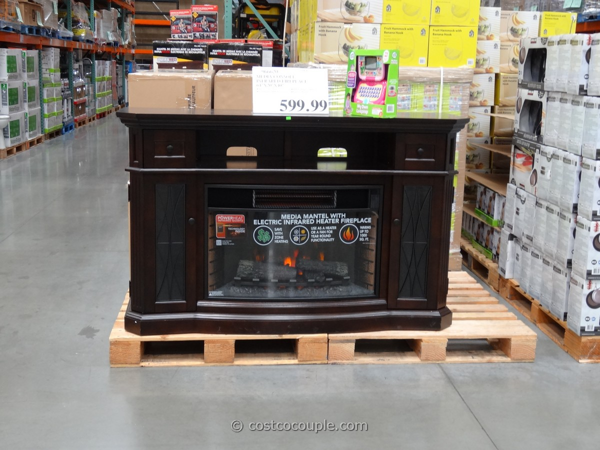 Media Console Infrared Fireplace Costco 1