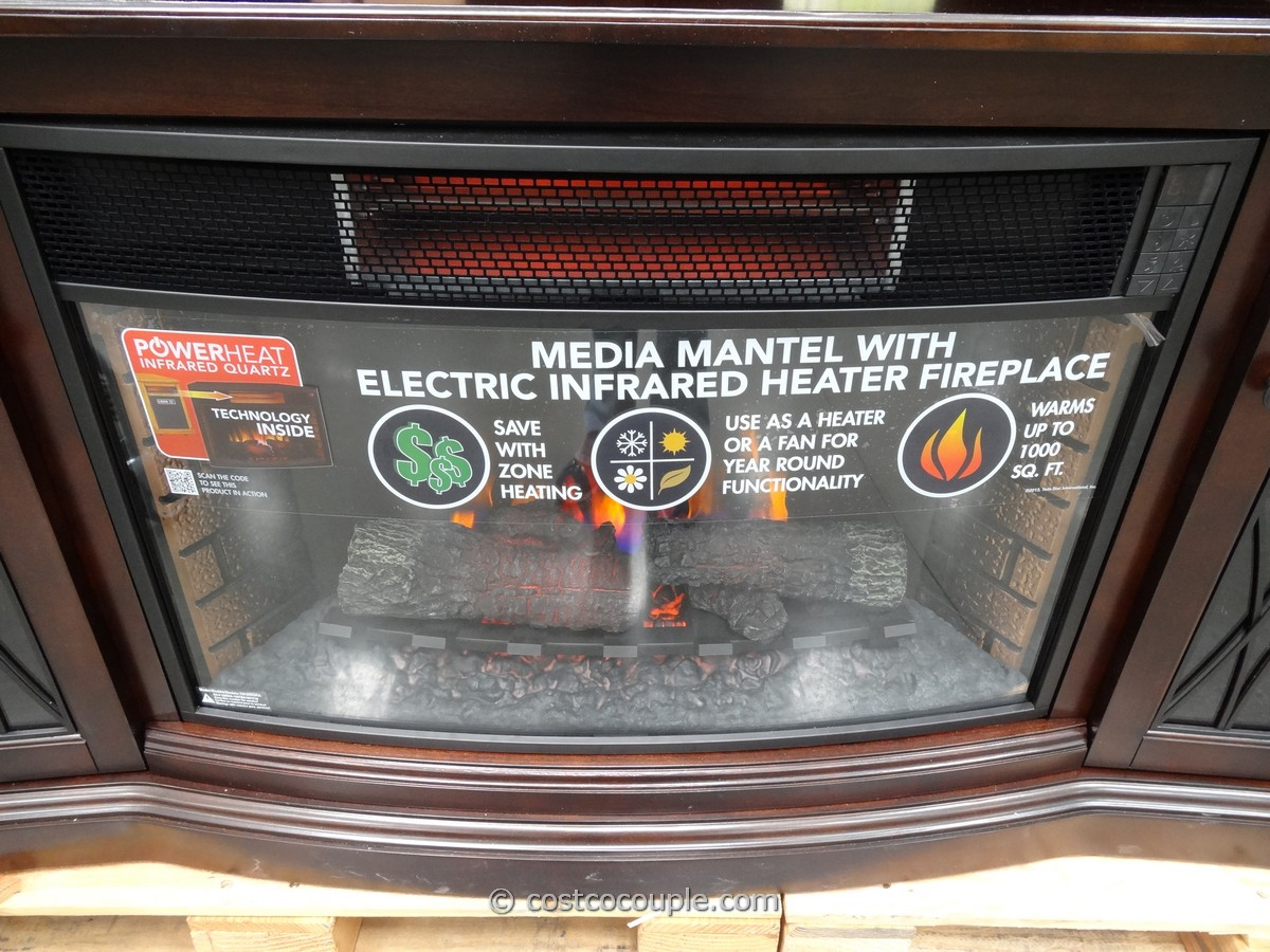Media Mantel Infrared Fireplace