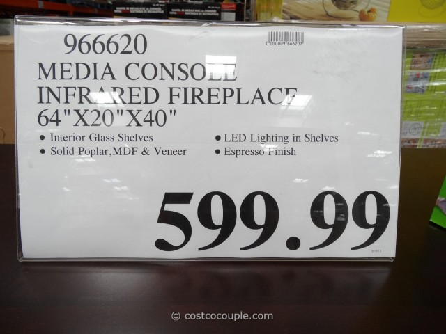 Media Console Infrared Fireplace Costco 3