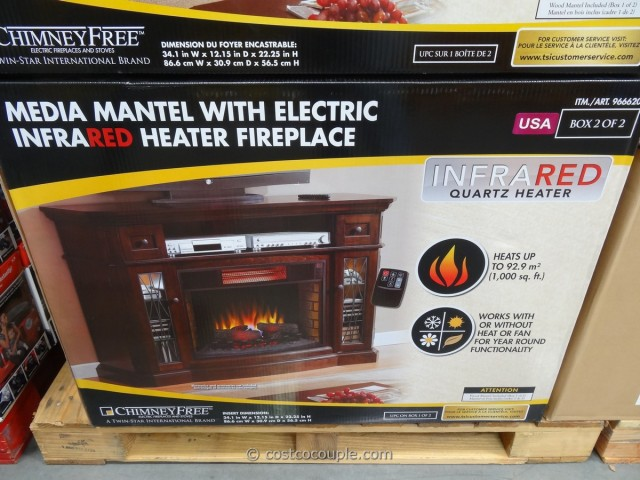 Media Console Infrared Fireplace Costco 6