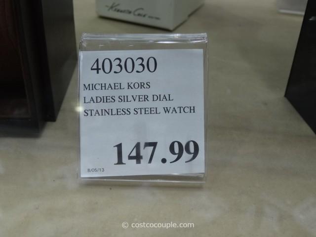 Michael Kors Ladies Silver Dial Stainless Steel Watch Costco 1