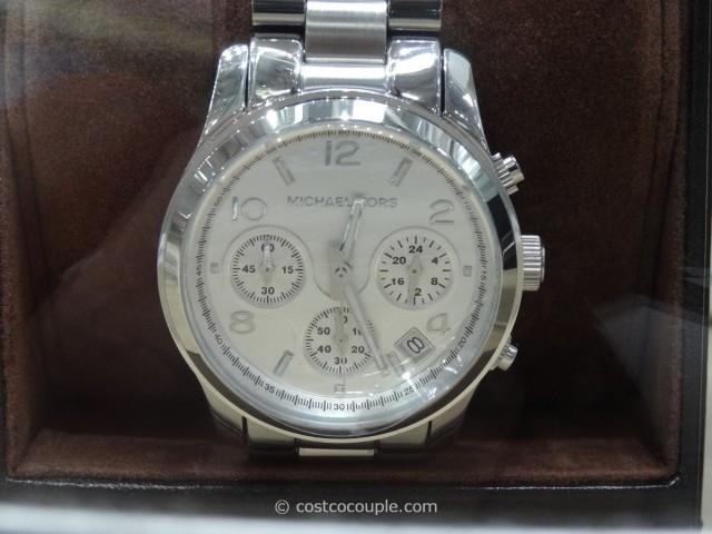 Michael Kors Ladies Silver Dial Stainless Steel Watch Costco 2