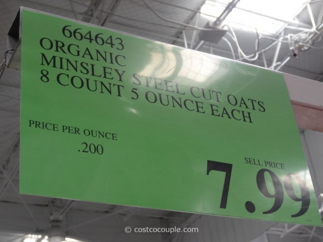 Minsley Organic Steel Cut Oats Costco 4