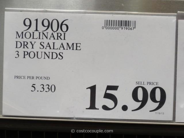 Molinari Dry Salame Costco 1