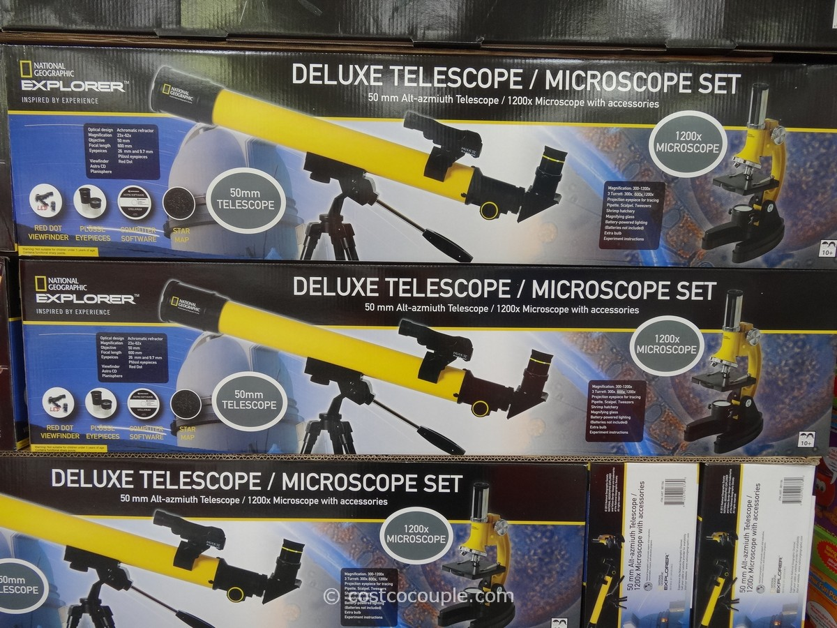 National Geographic Telescope and Microscope Set Costco 1