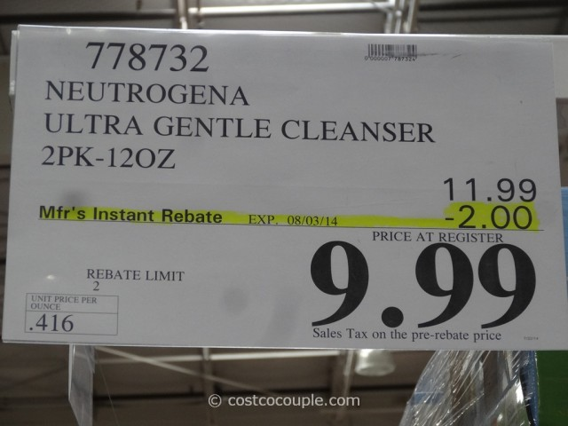 Neutrogena Ultra Gentle Cleanser Costco 1