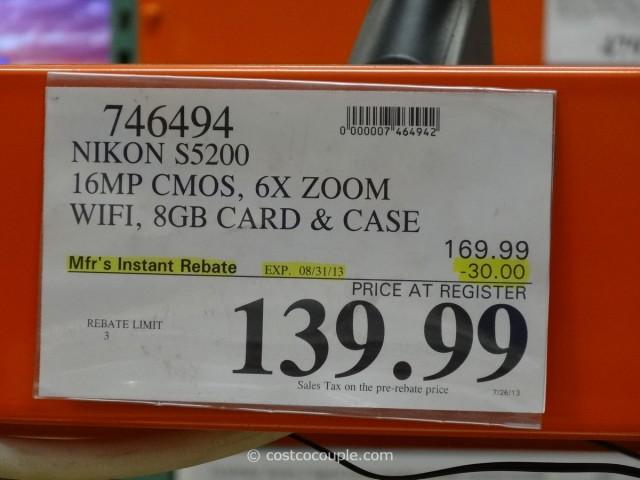 Nikon S5200 Camera Costco 1