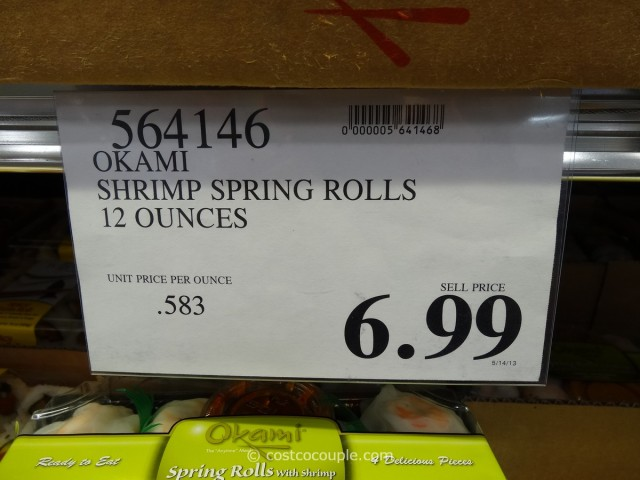 Okami Shrimp Spring Rolls Costco 1