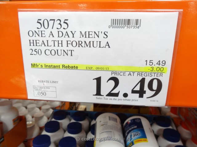 One a Day Men's Multivitamin Costco 2