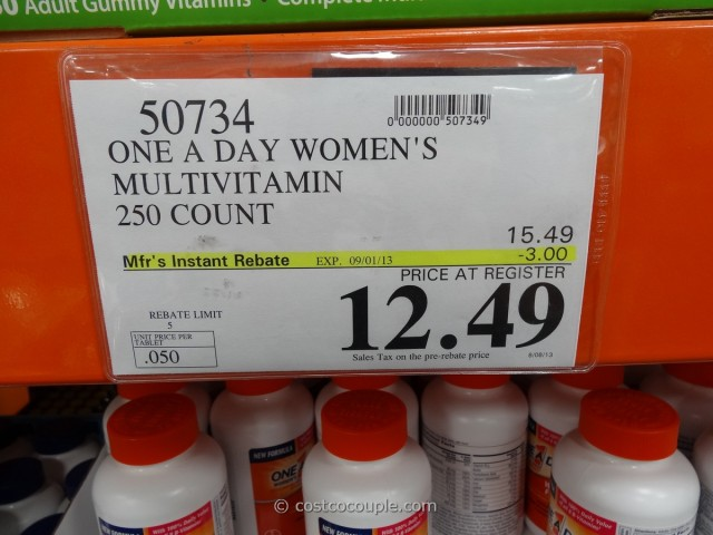 One a Day Women's Multivitamin Costco 1