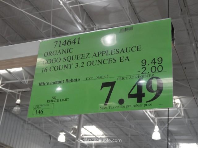 Organic Gogo Squeez Applesauce Costco 1