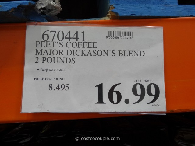 Peet's Coffee Major Dickason's Blend Costco 1