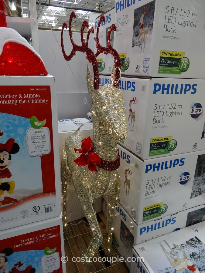 Philips 60-Inch LED Lighted Deer Costco 2