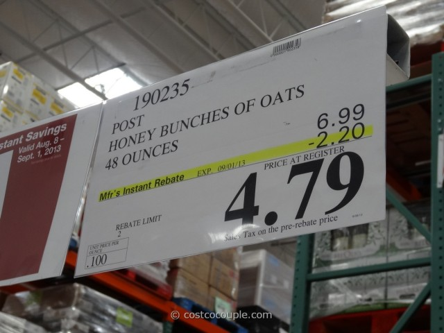 Post Honey Bunches of Oats Costco 2