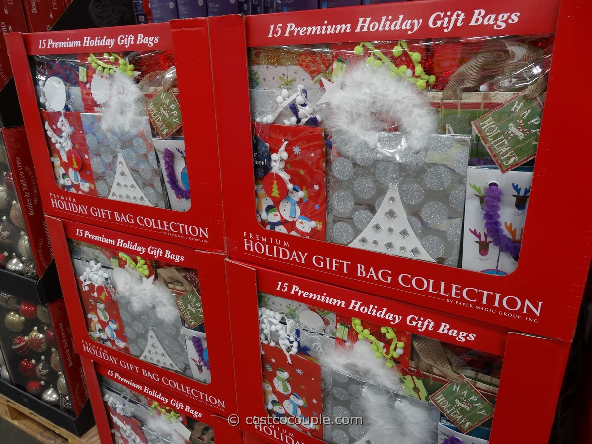 Premium Holiday Gift Bags Set Costco 1
