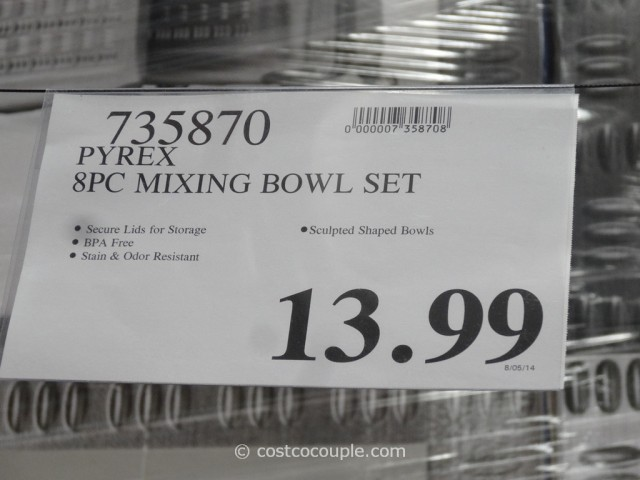 Pyrex 8-Piece Mixing Bowl Set Costco 1