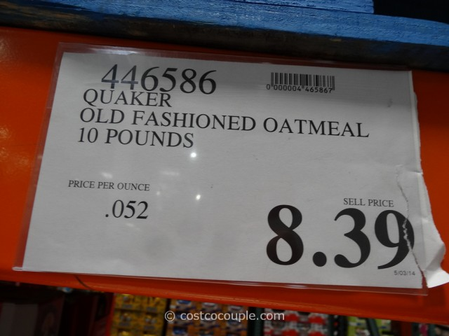 Quaker Oats Old-Fashioned Oatmeal Costco